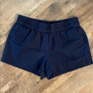 J Crew navy cotton shorts